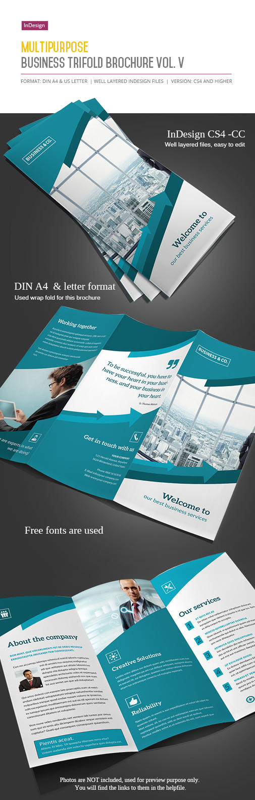 Business Trifold Brochure Vol. V by imagearea