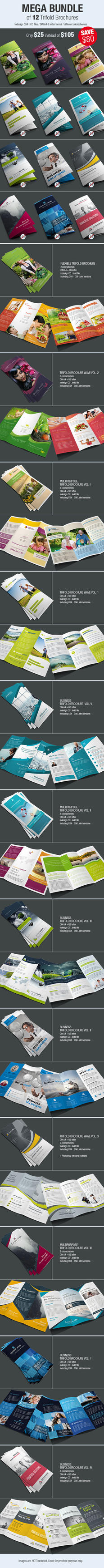 Bundle of 12 Trifold Brochures by imagearea