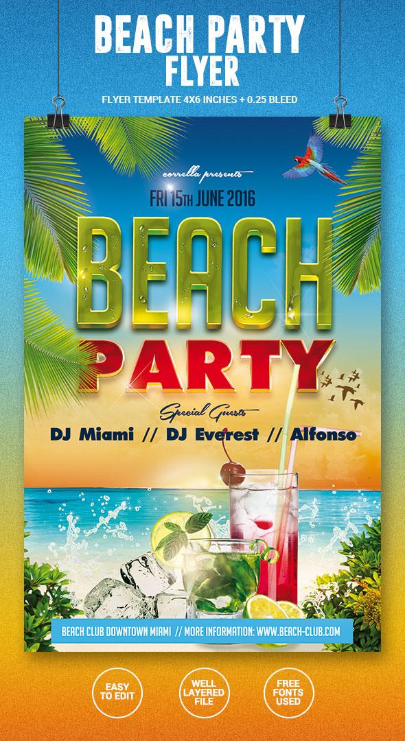 Beach Party Flyer by imagearea