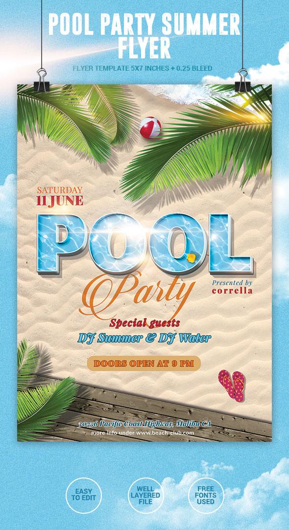 Pool Party Flyer by imagearea