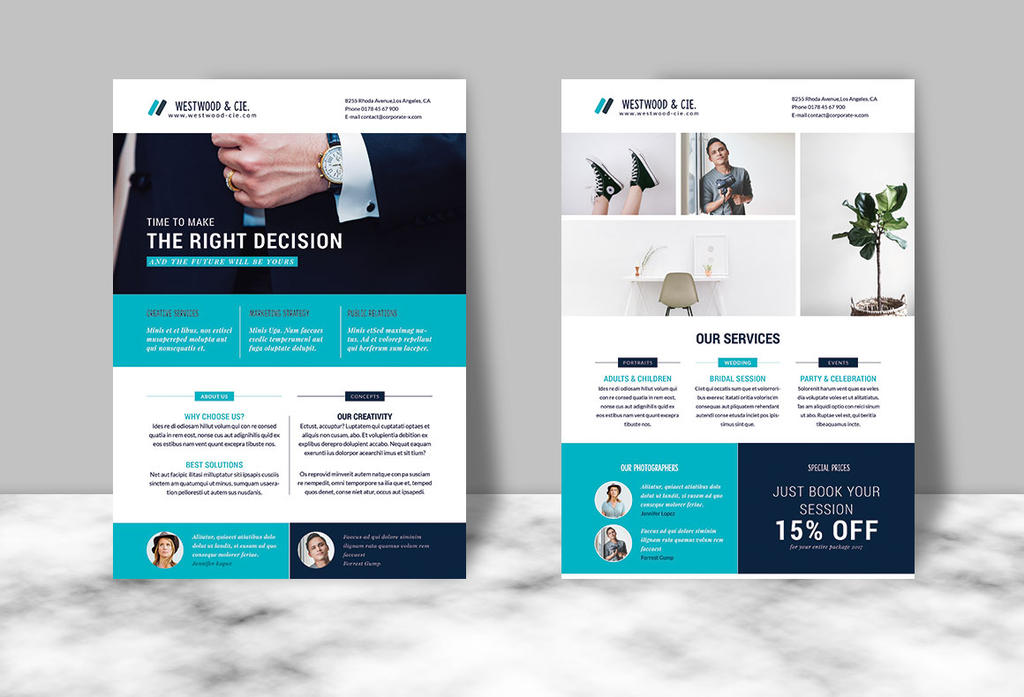 Portfolio and Corporate Flyer by imagearea