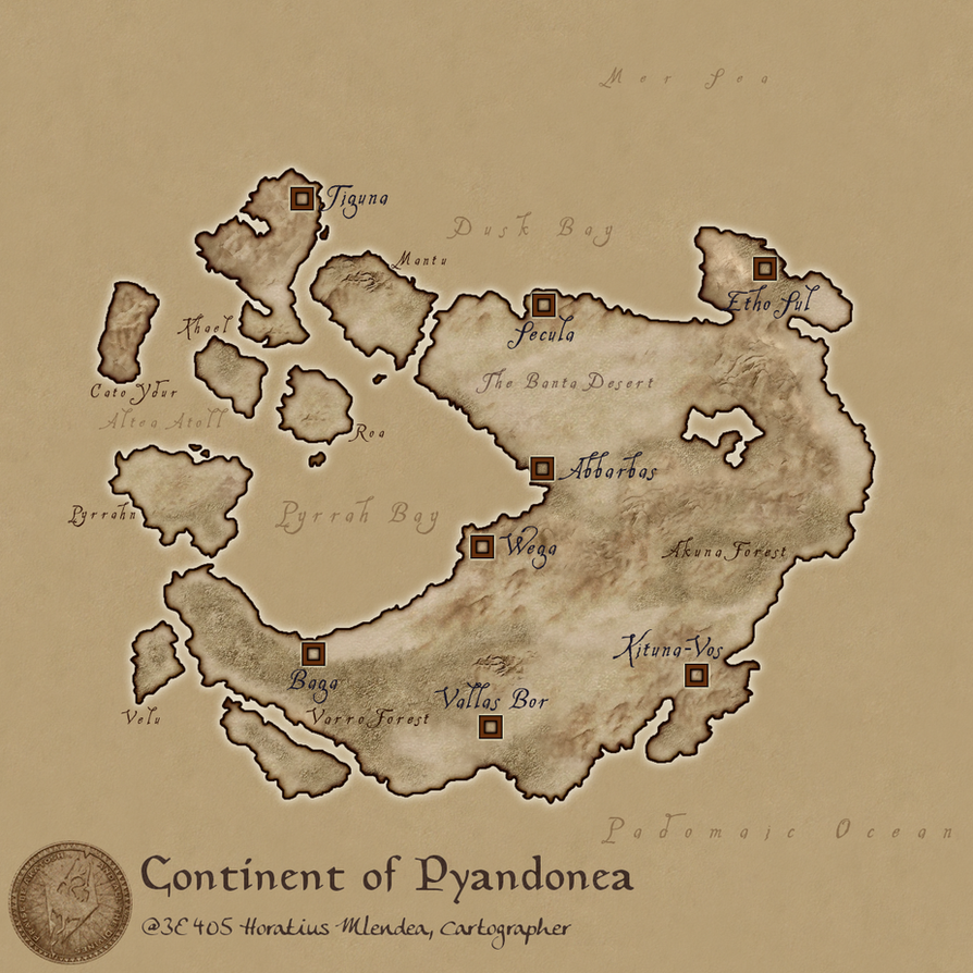 Continent of Pyandonea by hori873