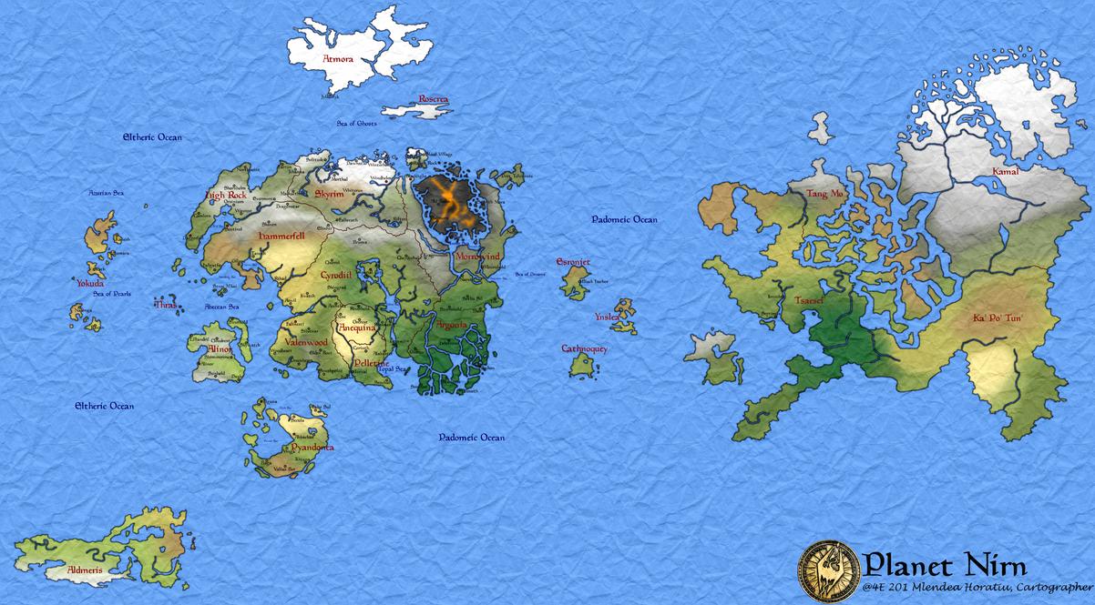 Planet Nirn - Geopolitical (v1) by hori873