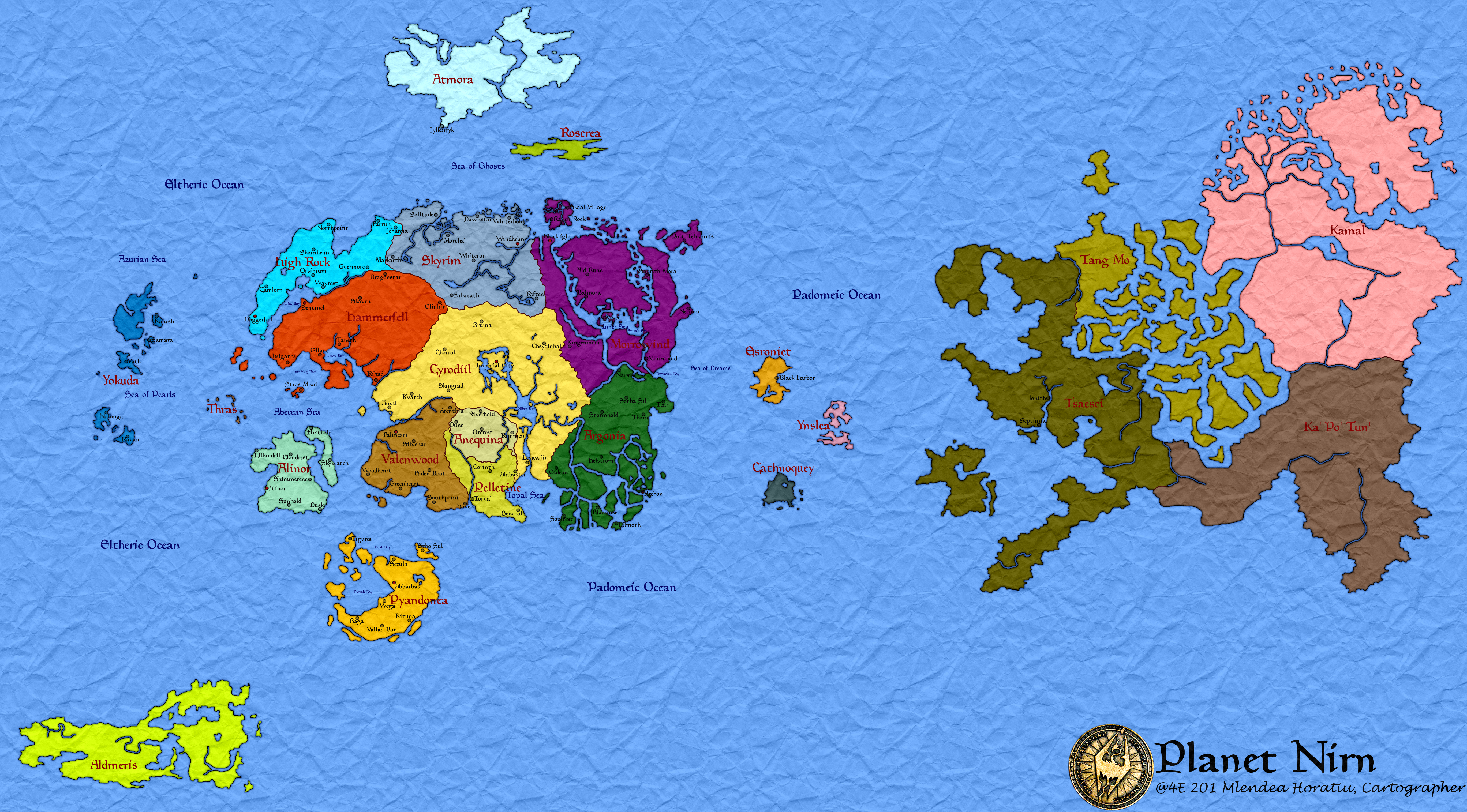 Nirn from The Elder Scrolls 5476 3032 MapPorn
