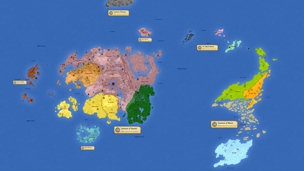 Planet Nirn - Realms by hori873