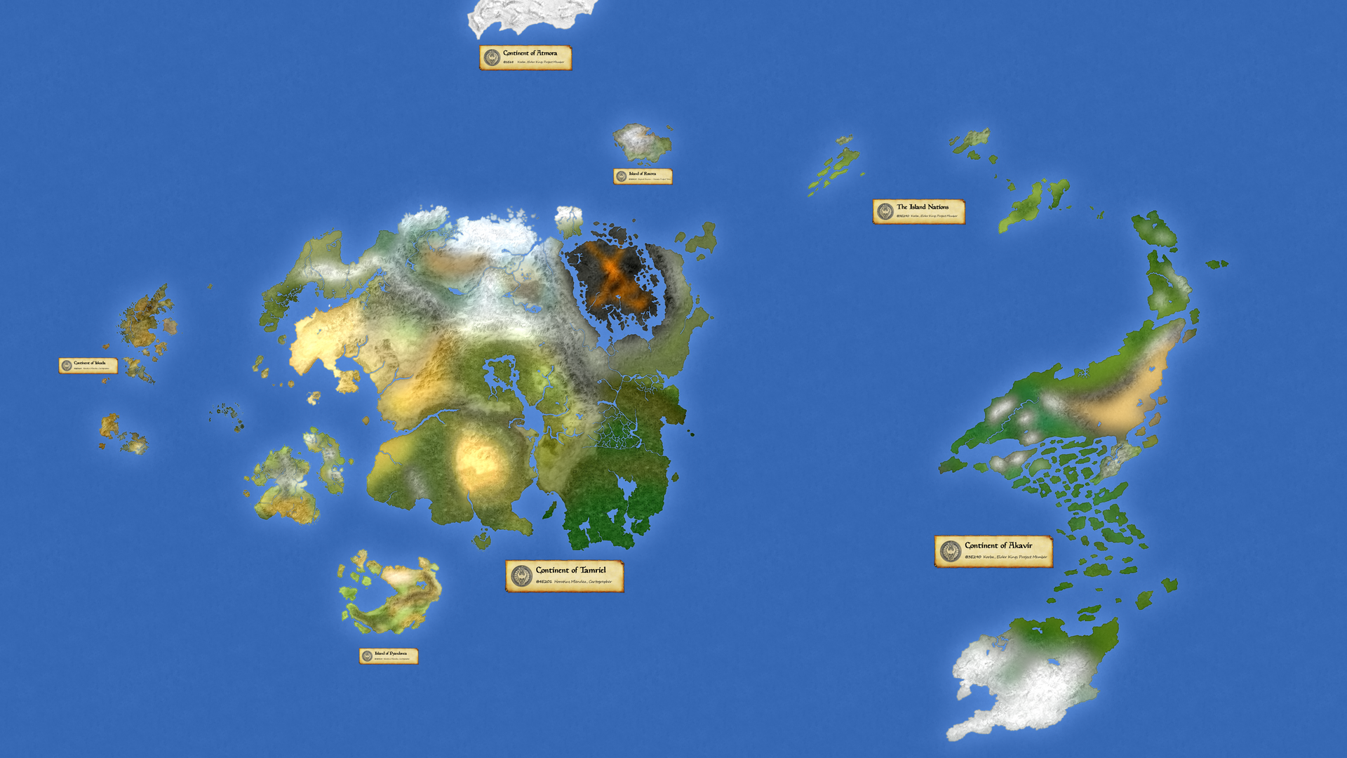 Planet Nirn - Geographical