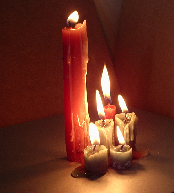 Six Melting Candles by DarkenedHeart-Stock