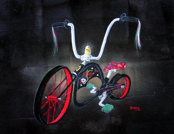 Dia De Los Muertos bike 07 by Borunda