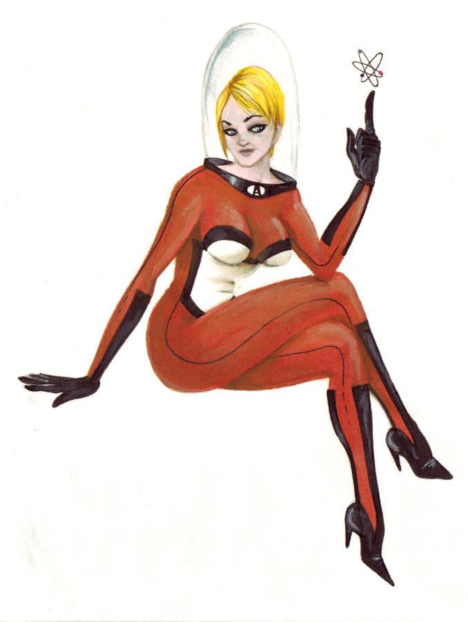 Space girl by Borunda