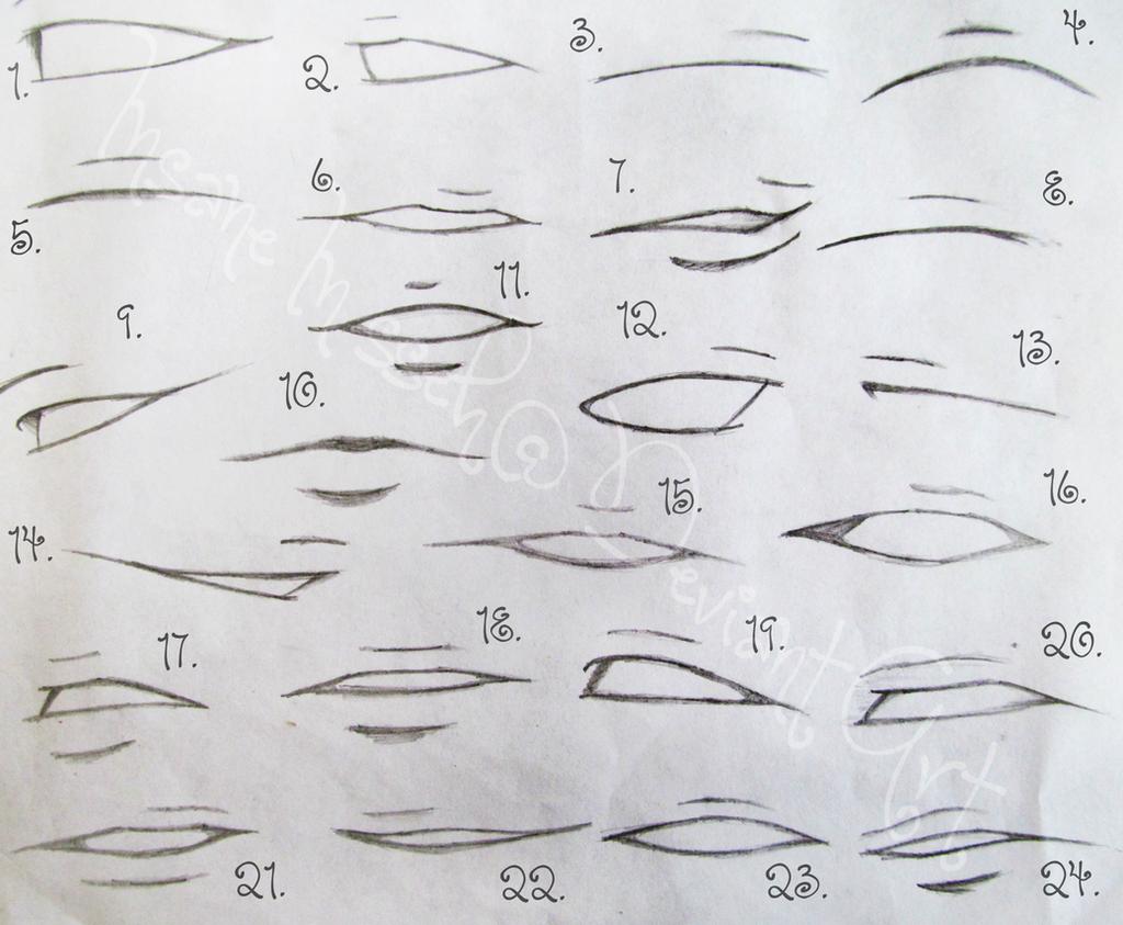 how to draw manga lips