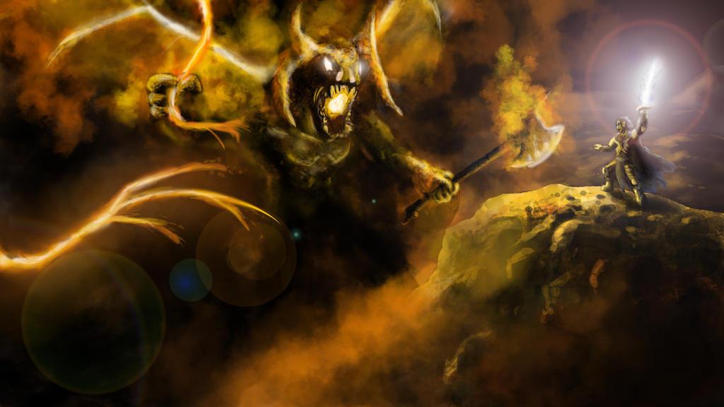 Gothmog Vs Feanor by issachar17 on DeviantArt
