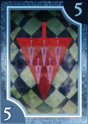 Persona 3/4 Tarot Card Deck HR - Suit of Swords 5