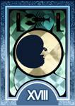 Persona 3/4 Tarot Card Deck HR - The Moon Arcana