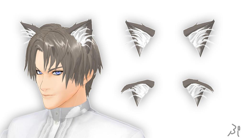 Nekomimi Cat Tail And Ears