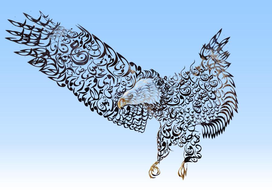 typography eagle by jordansart