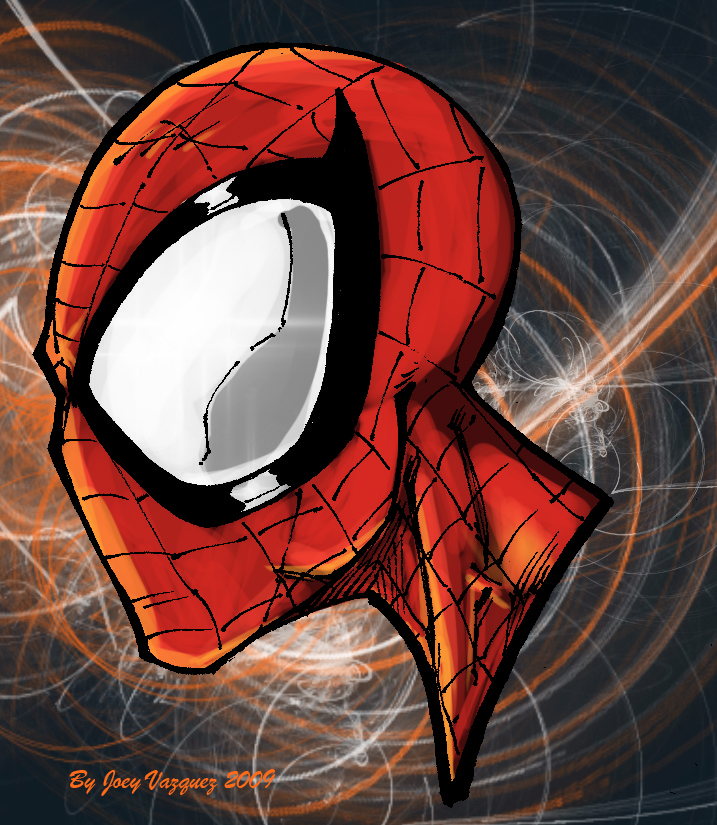 Spiderman Head Drawing With Color Spiderman Head Colored by