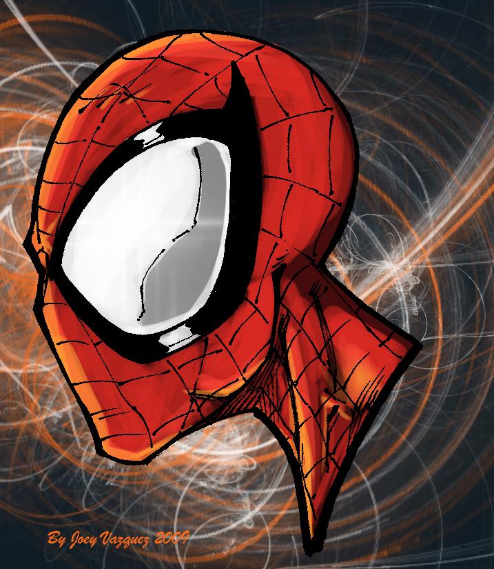 spiderman head colored by JoeyVazquez on DeviantArt