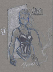 Lara Croft sketch by JoeyVazquez