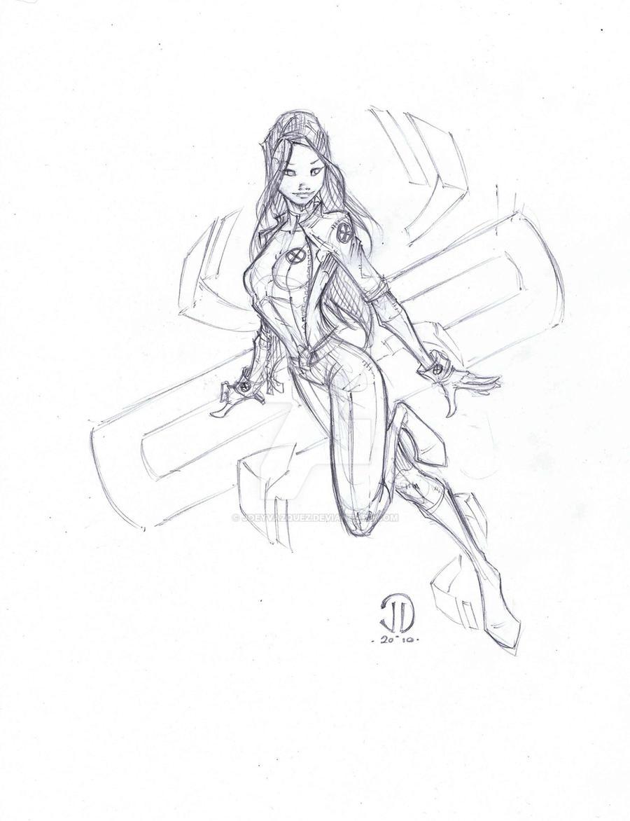 Rouge sketch by JoeyVazquez