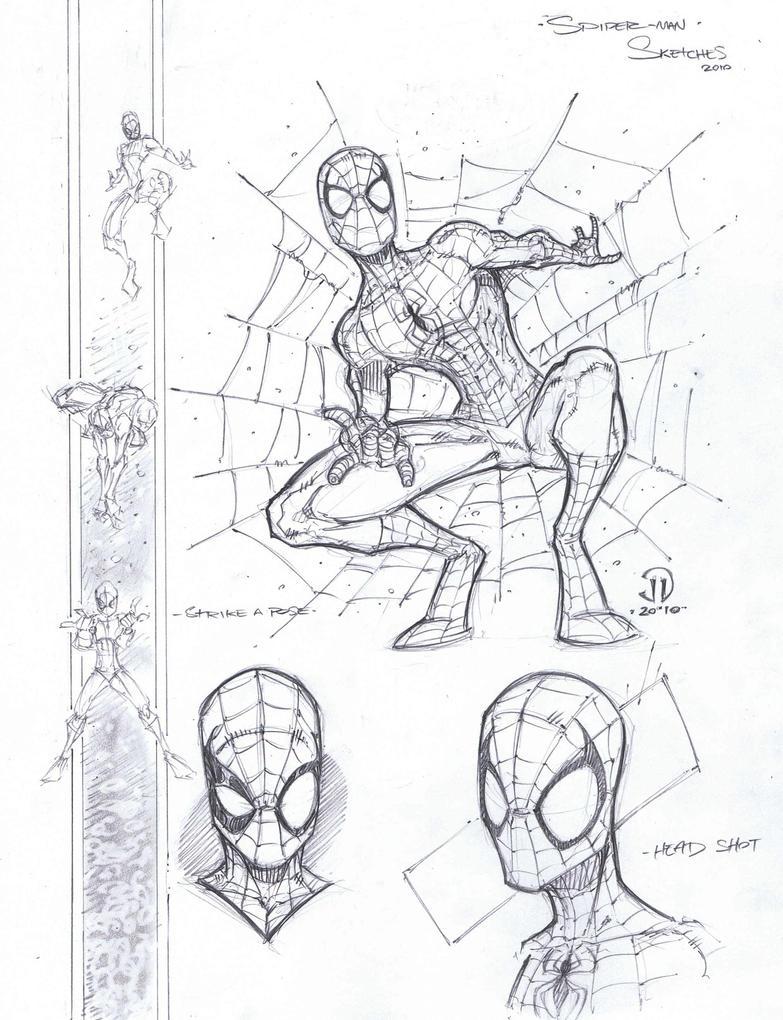 Mor Spidey sketchn by JoeyVazquez