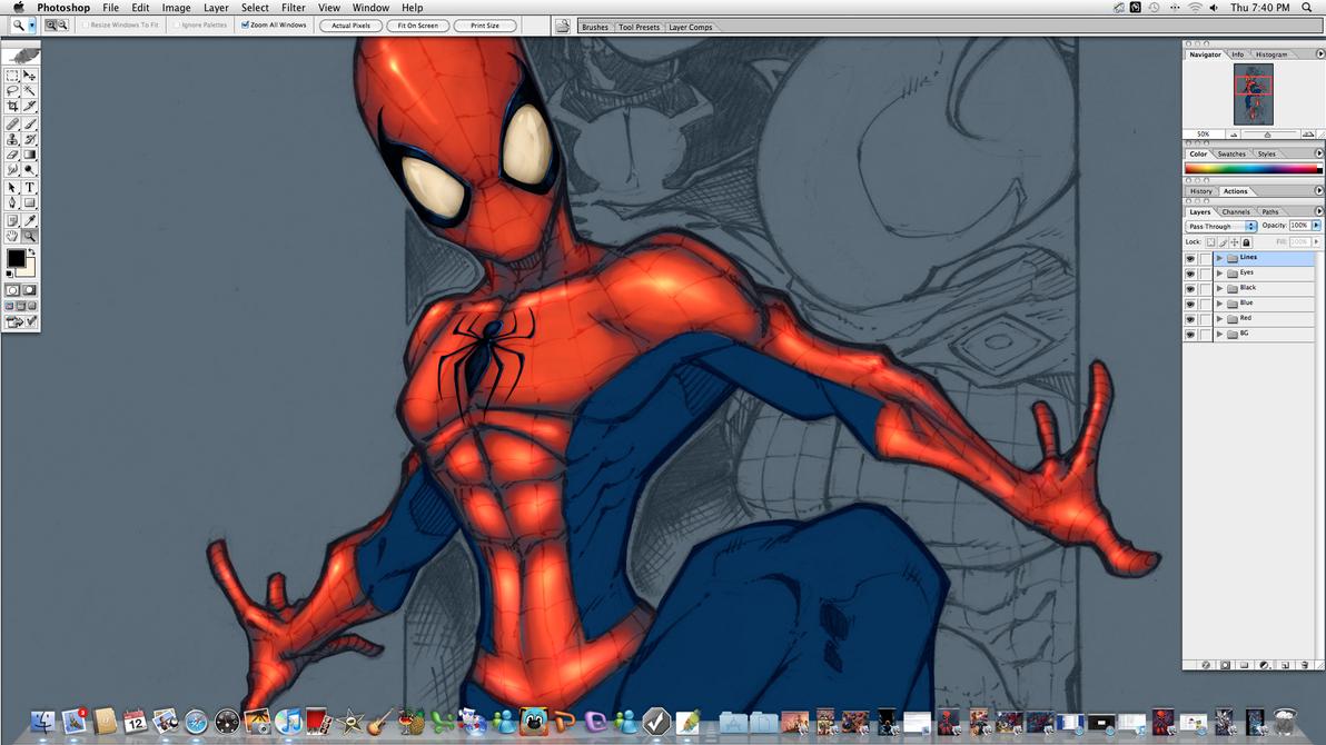 Spiderman and Baddies Redo WIP by JoeyVazquez