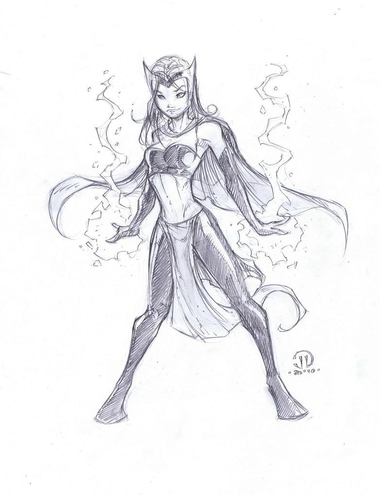 Scarlet Witch Sketch By Joeyvazquez On Deviantart