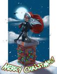 Black Cat Christmas colors