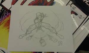 Scarlet Spiderman Con sketch