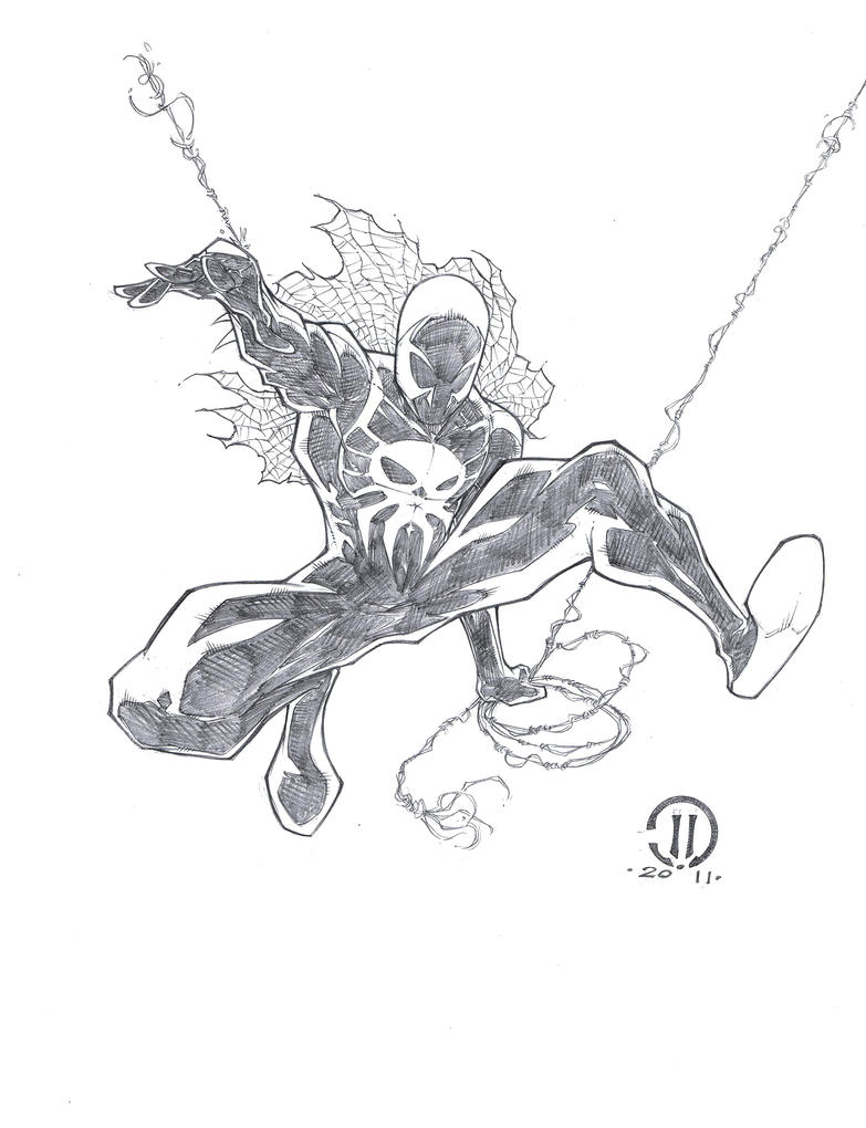 Spiderman2099 pencils by joeyvazquez on deviantart for Spider man 2099 coloring pages