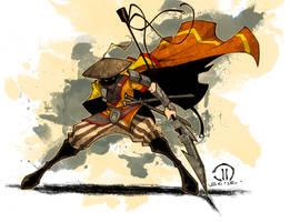 MC Monk action by JoeyVazquez