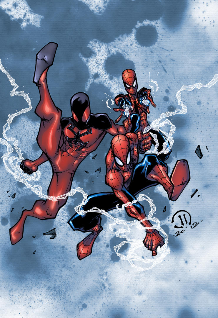 Spidermen colors by JoeyVazquez