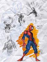Spidey toony sketches by JoeyVazquez
