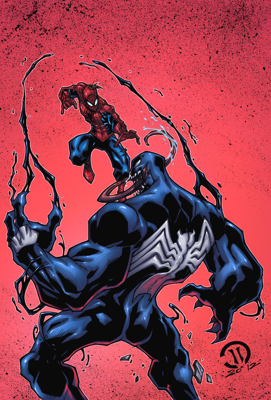 Spiderman vs Venom FINAL by JoeyVazquez