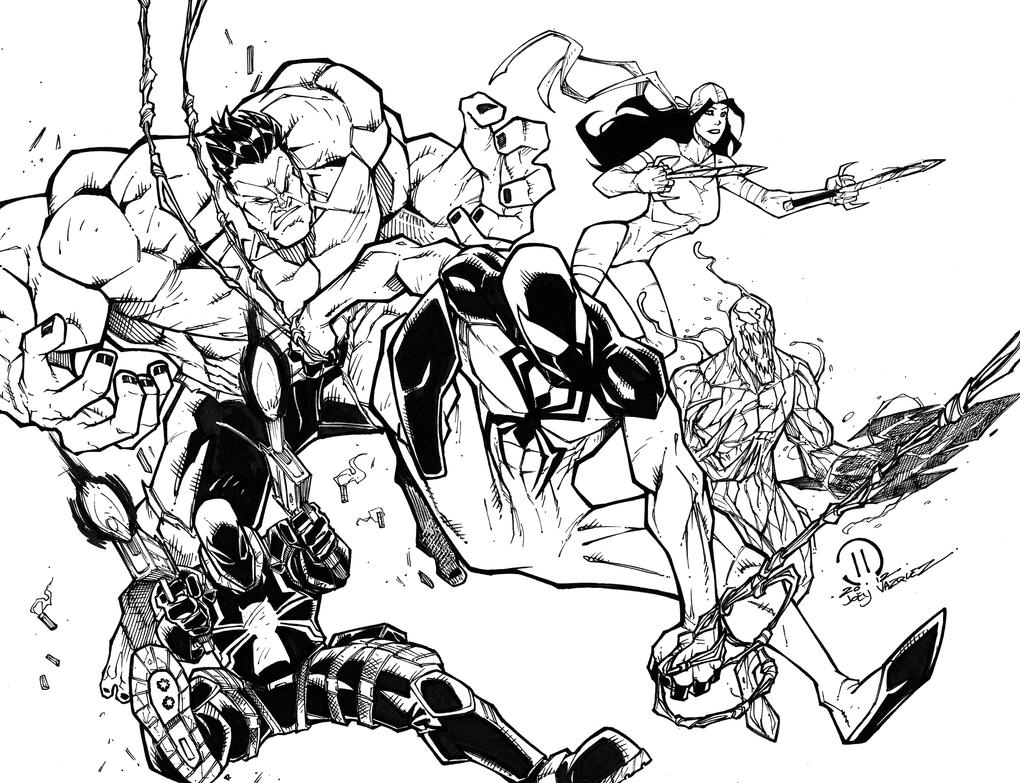 Red vengeance inks by JoeyVazquez