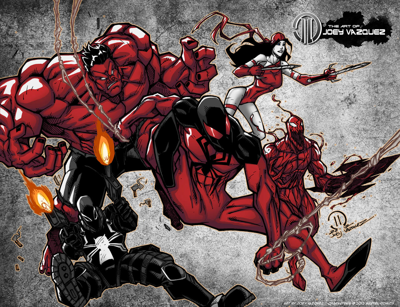 Red VENGEANCE Print by JoeyVazquez