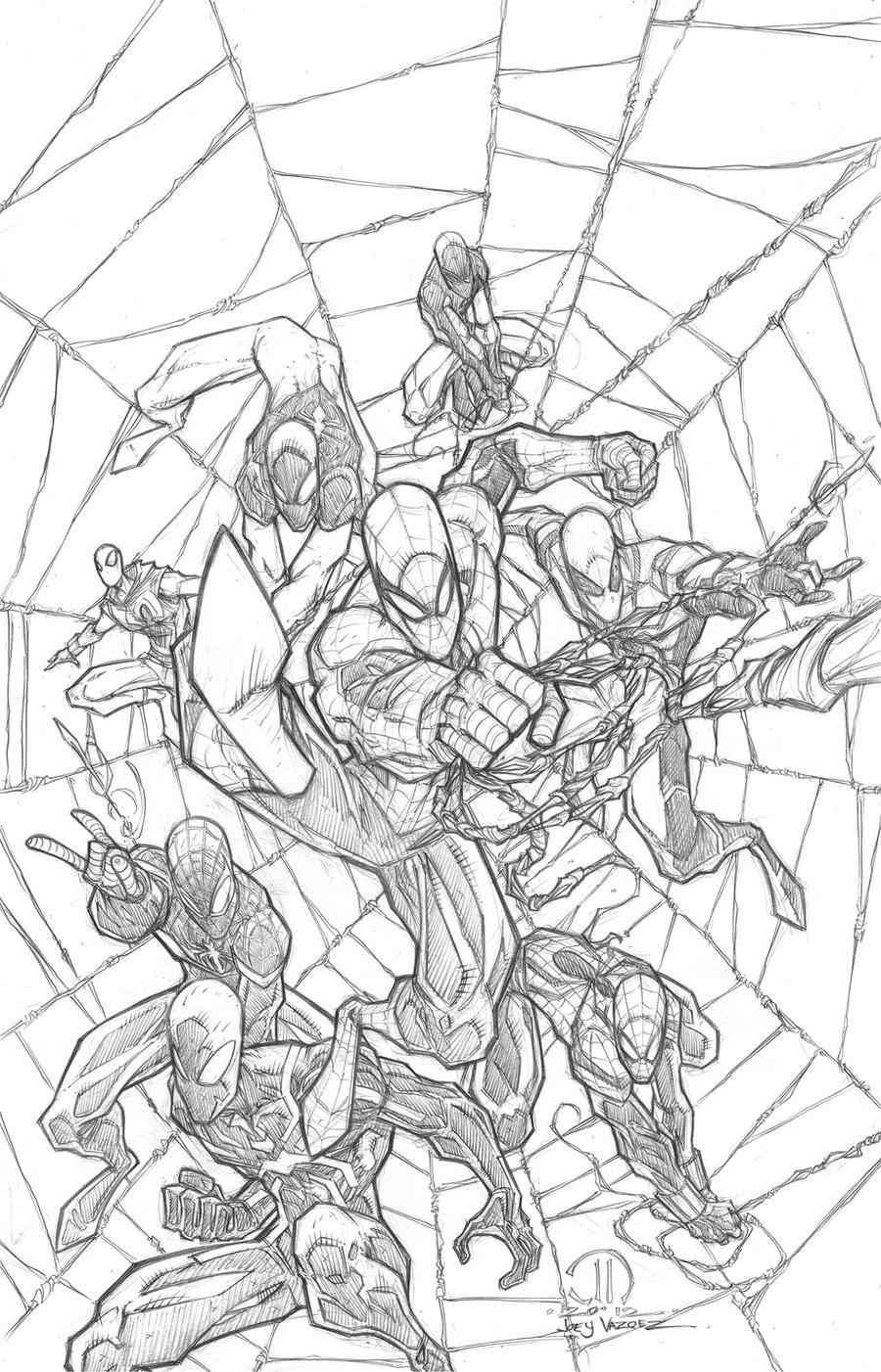 SPIDERMAN MONTAGE COMMISSION by JoeyVazquez