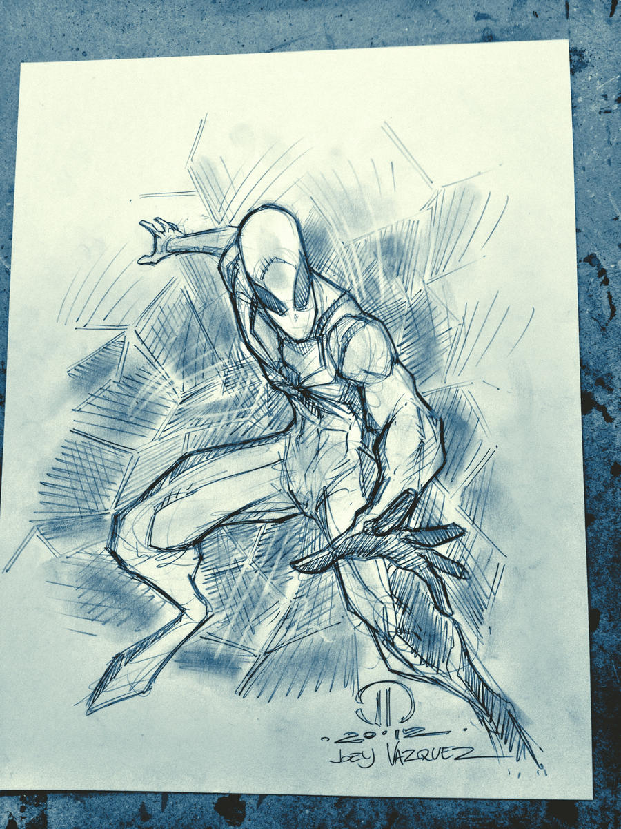 Future Foundation Spidey MCBA Fall Con sketch by JoeyVazquez