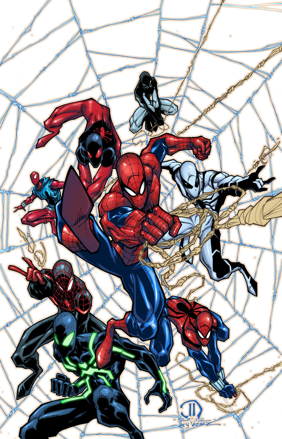 SPIDEY MONTAGE COLORS by JoeyVazquez