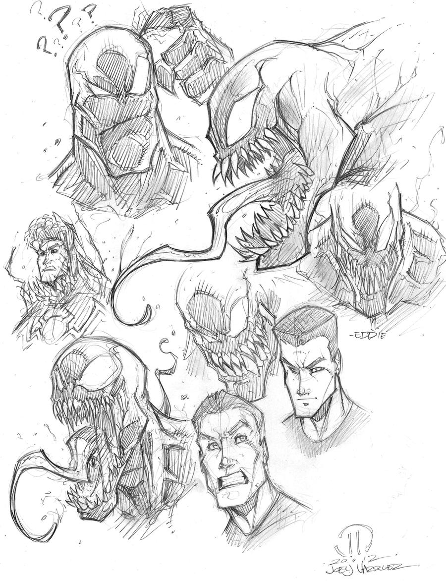 VENOM SKETCHES by JoeyVazquez