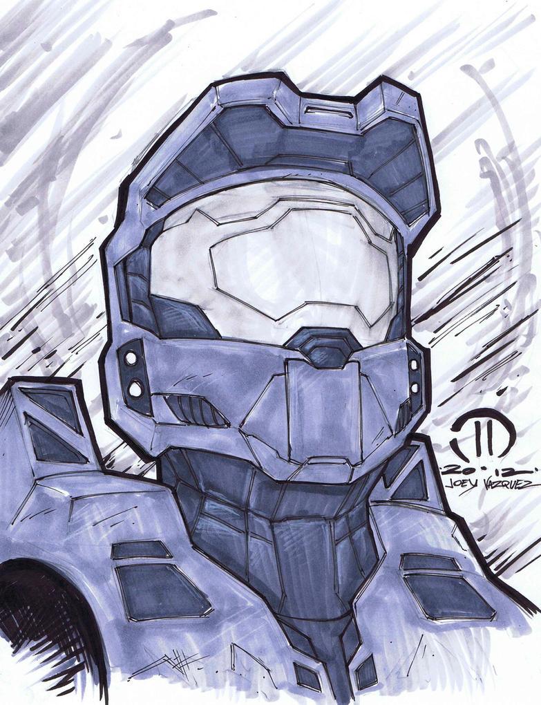 Master Chief Marker sketch by JoeyVazquez