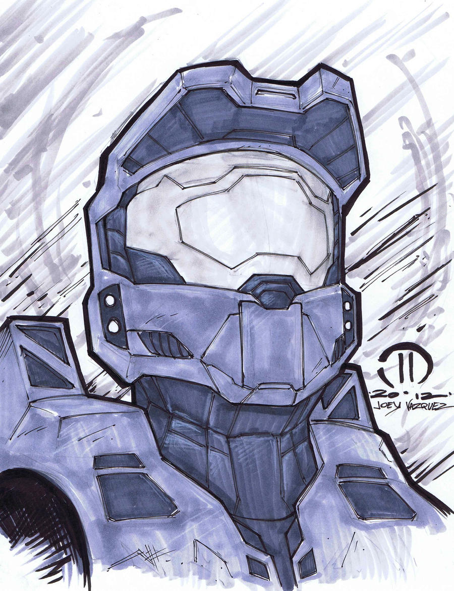 Master Chief Marker sketch by JoeyVazquez