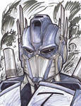 Optimus Prime Marker head sketch