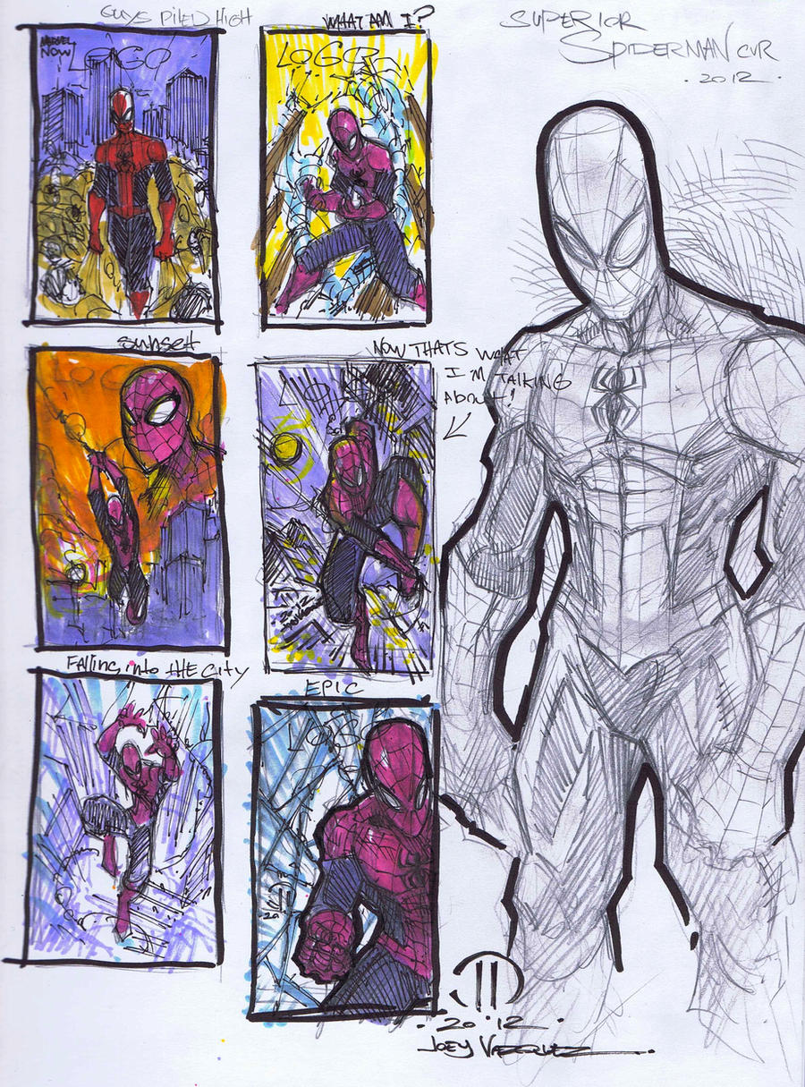 Superior spiderman thumbnails by JoeyVazquez