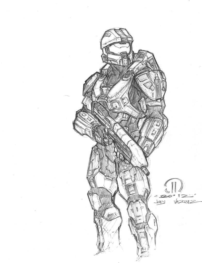 halo 4 master chief coloring pages contegri com