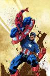 CAPTAIN AMERICA vs SPIDER-MAN colors