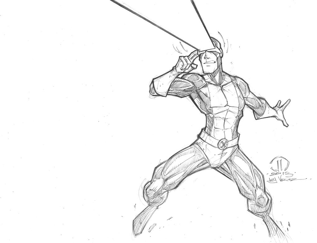 X Men Cyclops Drawings Cyclops sketch by Joey...