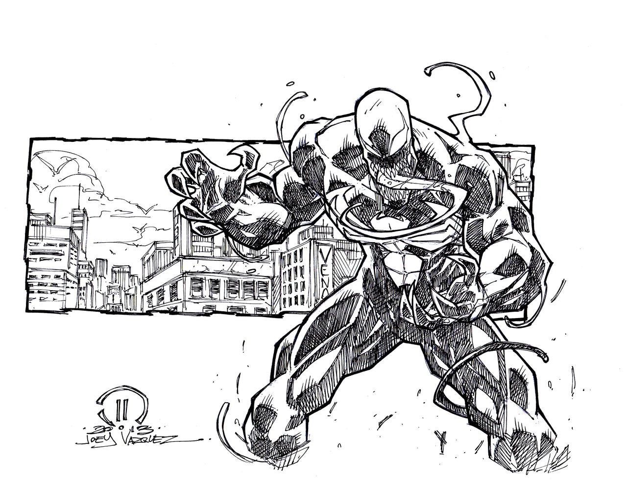 Venom sketch commish by JoeyVazquez