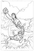 Invincible an Oliver pencils by JoeyVazquez