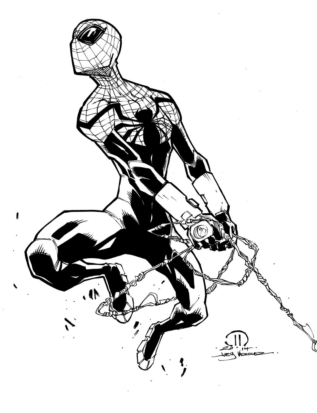 Superior Spider-man Marker Sketch Inks By JoeyVazquez On DeviantArt
