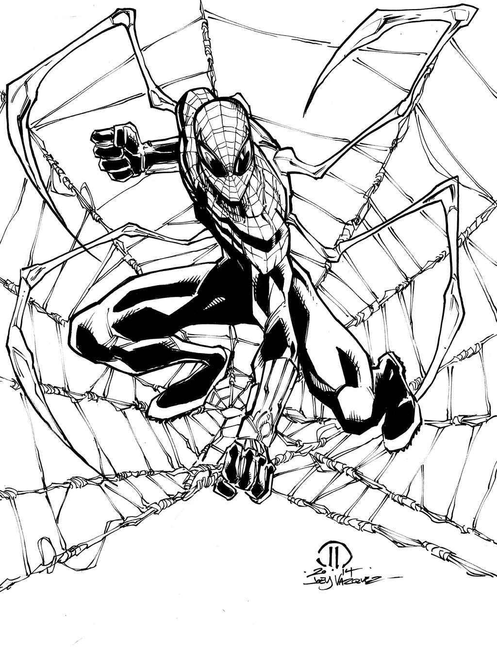 Superior Spider-man ock arms inks by JoeyVazquez